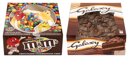 UK: Mars Drinks & Treats enters new category with Galaxy and M&M's branded cakes