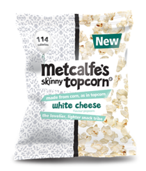 UK: Metcalfe's adds White Cheese flavour to popcorn range