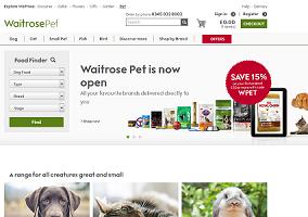 UK: Waitrose launches pet product website