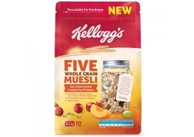 Australia: Five Whole Grain Muesli launched by Kellogg's