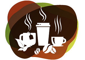 Brown and green rule coffee and tea packaging