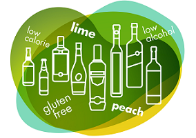 Lime and peach top flavour lists in new alcoholic drinks
