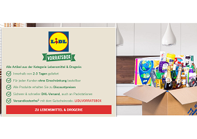 Germany: Lidl launches Vorratsbox to compete with Amazon Pantry