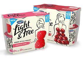 UK: Danone launches Light & Free greek style yoghurt range