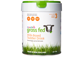 Australia: Munchkin grass-fed formula launched