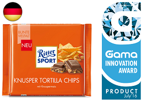 Gama Innovation Award: Ritter Sport Chocolate Bar with Crunchy Tortilla Chips