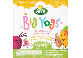 UK: Arla launches fruit & vegetable yoghurts for children