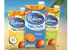 UK: Rubicon launches Light and Fruity juice