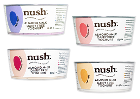UK: Nush launches almond milk yoghurt range
